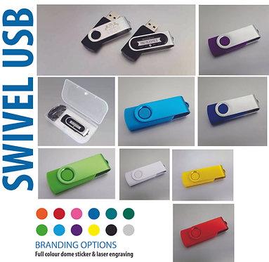 Laser Engraved  Swivel USB's