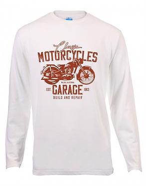 Long Sleeve T-Shirt Motorcycle Garage