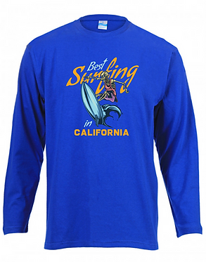 Long Sleeve T-Shirt Royal Best Surfing