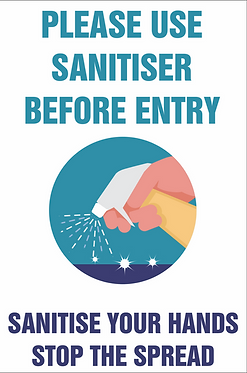 Covid Posters Laminated Use Sanitiser