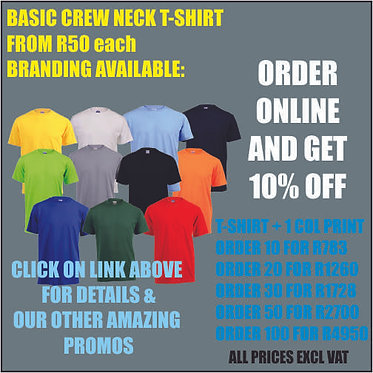 10 x Branded T-Shirts