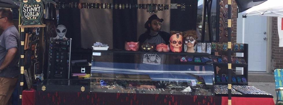 Merchandise booths