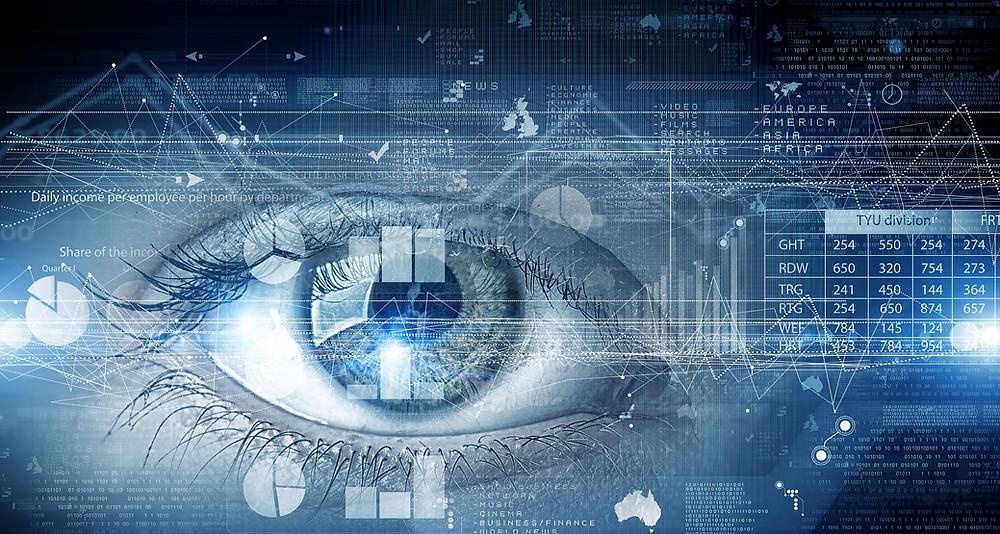 szem, látás, éleslátás, digitális világ, kék fény