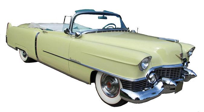 1954 Yellow Cadillac Series 62 Convertib