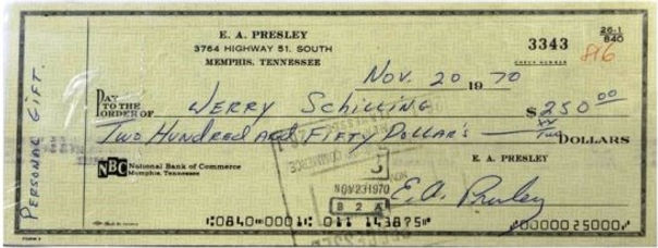 Elvis-Signed-Check-Written-to-Jerry-Schi