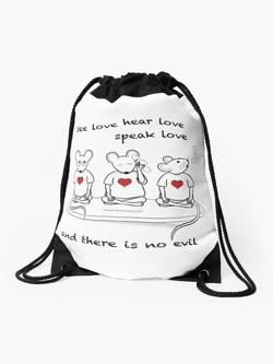 See Love Draw String Bag