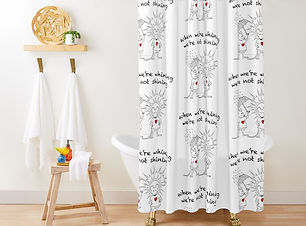 MantraMouse Shower Curtain