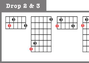 Major Triads - Drop 2 & 3