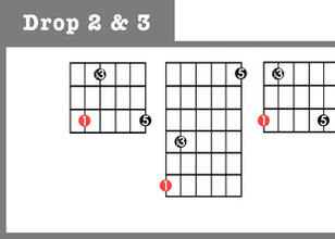 Minor Triads - Drop 2 & 3