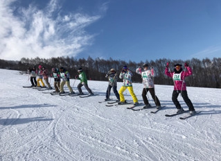 スキー実習2日目