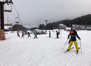 スキー実習最終日