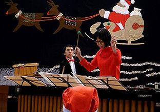 マリンバ奏者でご活躍されている 卒業生 原嶋 裕美さんの生演奏