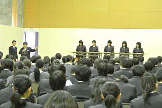 進路オリエンテーション~卒業生による合格報告会~