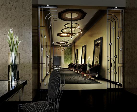 Rowan Lofts Lobby Plaster