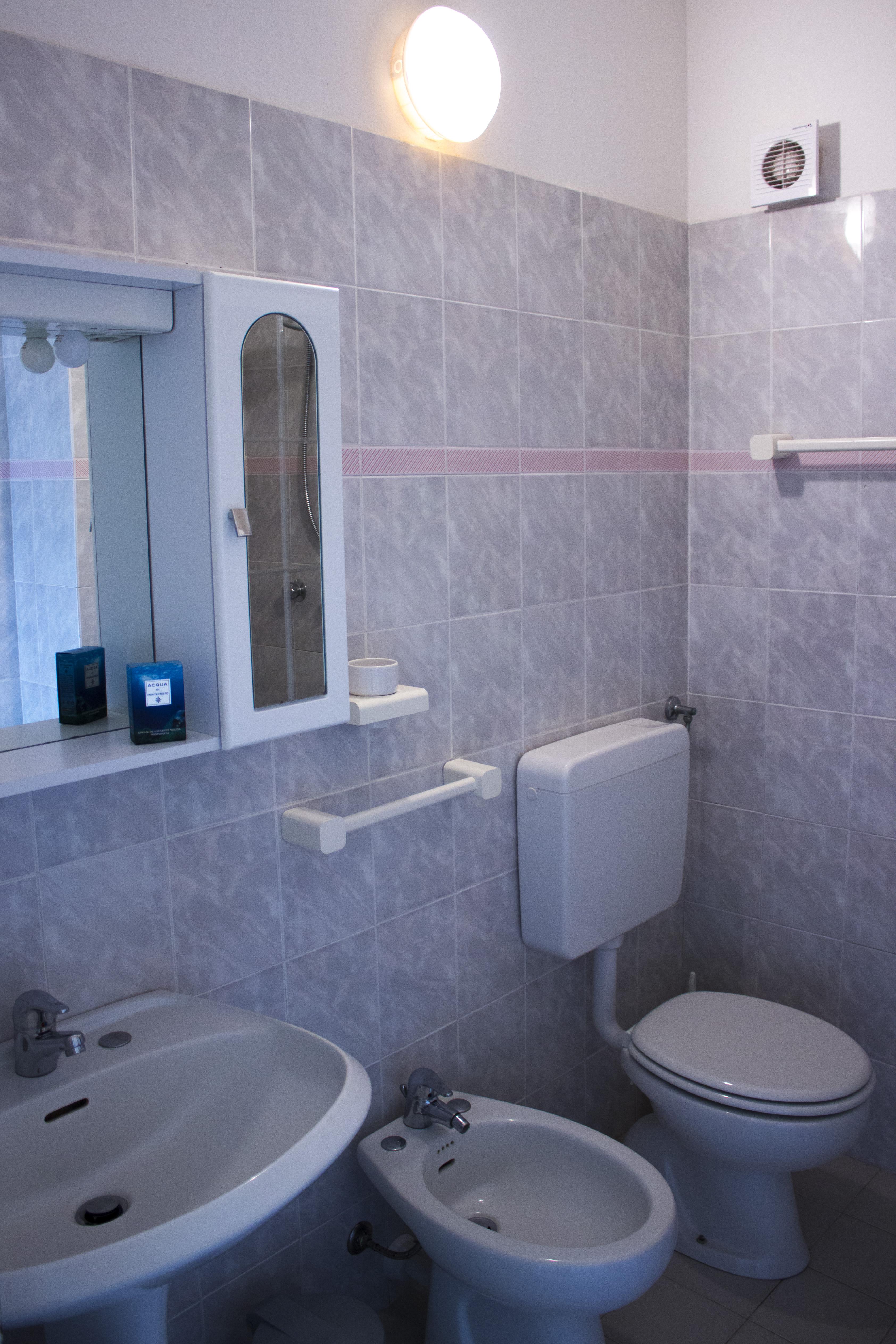 bagno appartamento verde