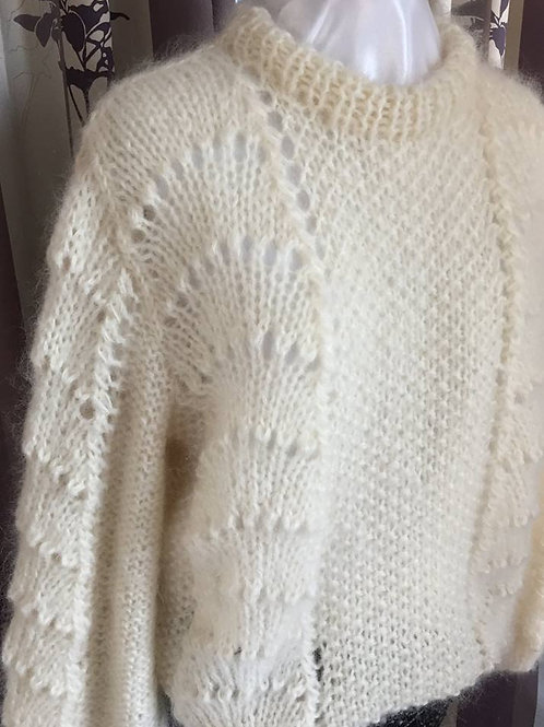 WAVE mohair sweater OFFWHITE