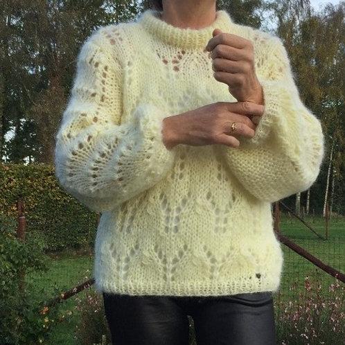 JULIE mohair sweater PASTELGEEL zie ook andere kleuren