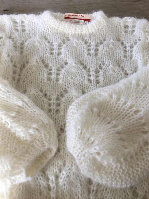 JULIE mohair sweater WIT