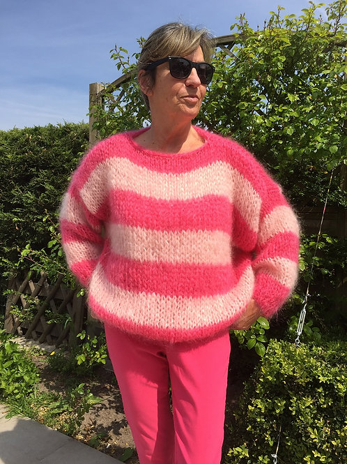 Mohair oversized sweater stripes