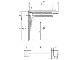 Стандартный подъём секционные ворота