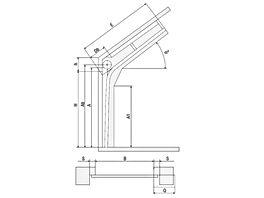 стандартный наклонный подъём секционные ворота