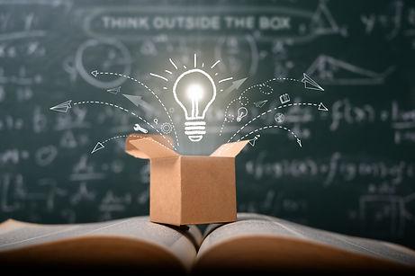 think-outside-box-school-green-blackboar