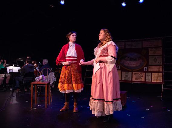 Kelvyn Koning as Helena Landless and Liz Clutts as Rosa Bud