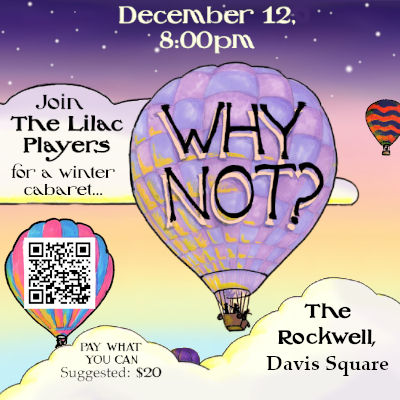 """Poster for the Lilac Players past show, """"Why Not?"""" (Dec 2019)"""
