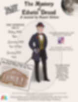 "Poster for The Lilac Players past event, ""The Mystery of Edwin Drood"" (Sept 2019)"