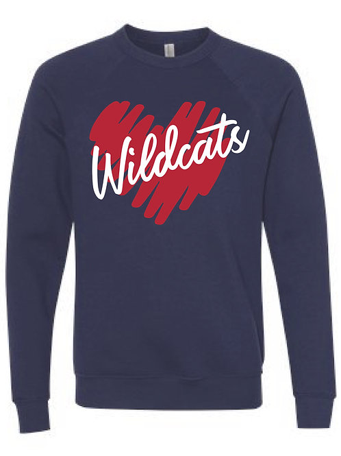 Scribble Glitter Heart Sweatshirt