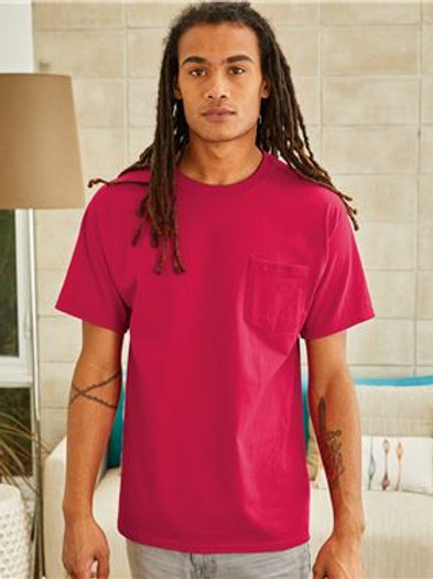Hanes Authentic Short Sleeve Pocket T Shirt
