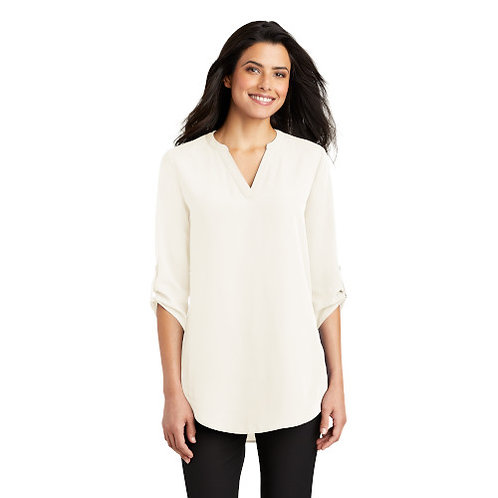 Port Authority Ladies 3/4 Sleeve Tunic Blouse