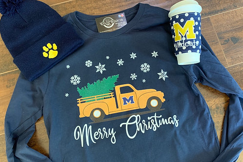 Marion Christmas Truck tee