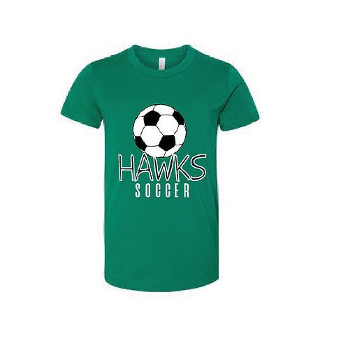 Hawks Soccer Youth Logo Tee