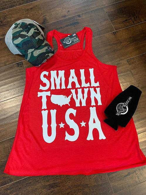 Small town USA tank top