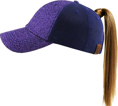 SP Glitter Ponytail Hat