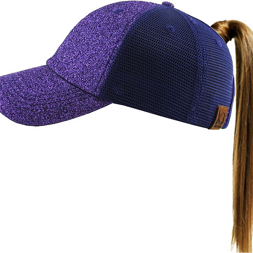 SP Glitter Ponytail Hat