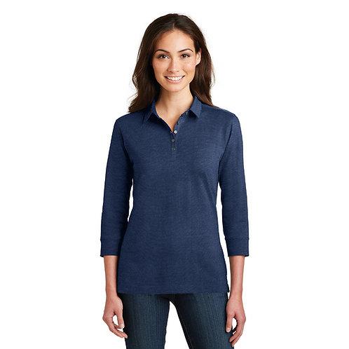 Port Authority Ladies 3/4 Sleeve Polo
