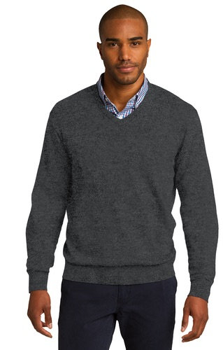 Port Authority Mens V Neck Sweater