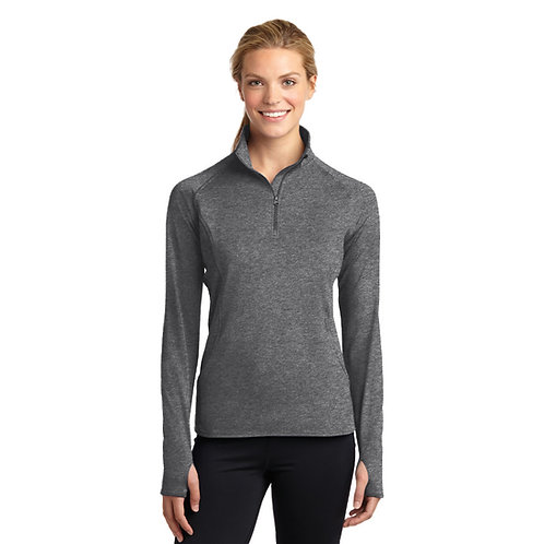 Ladies SportTek Wick Stretch 1/2 Zip Pullover