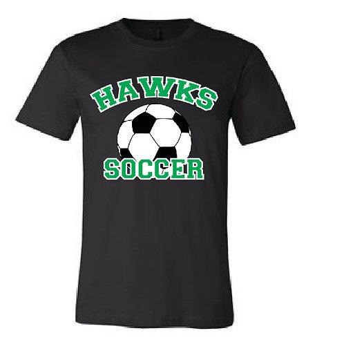 Hawks Soccer Glitter Logo Tee
