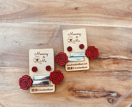 Mommy & Me Earring and Hair Clip Set