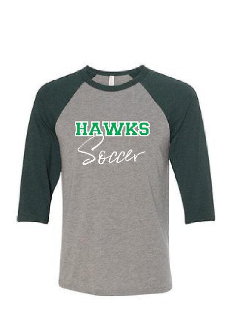 Hawks Soccer Logo Raglan