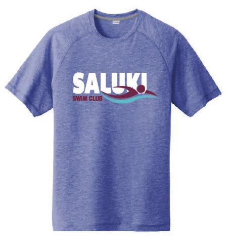 Saluki Swim Sport Tek Tri Blend Wicking T-shirt