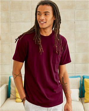 Hanes Beefy T Short Sleeve Pocket T Shirt