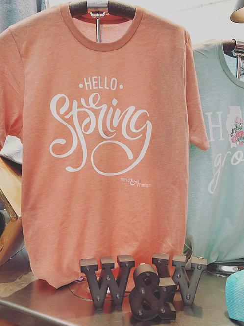 Hello Spring T Shirt