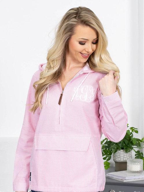 Charles River Ladies Seersucker Pullover