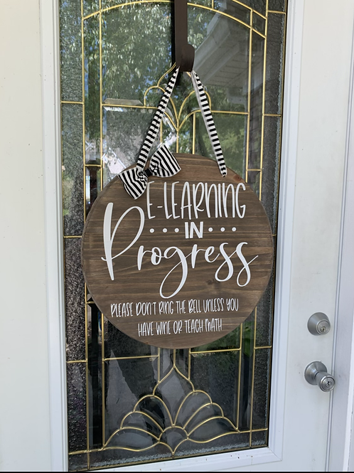 E learning door sign