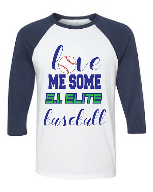 Si Elite Love Baseball Raglan