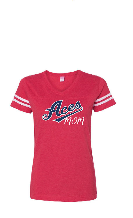 Z20 Aces Mom Ladies Ringer Tee